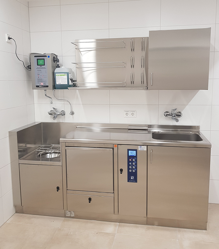 SCHLUMBOHM Bedpan washer stainless steel