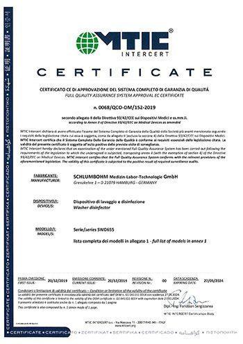 SCHLUMBOHM Certificate