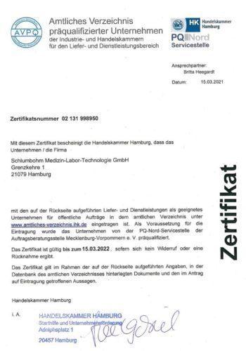 SCHLUMBOHM zertifikat-handelskammer